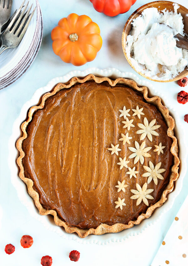 VEGAN PUMPKIN PIE {allergy-friendly, gluten-free}