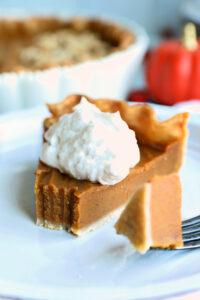 The perfect slice of pumpkin pie