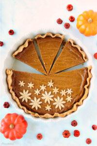 slices of vegan pumpkin pie