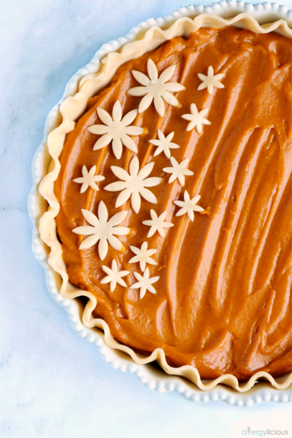 Delicious homemade pumpkin pie