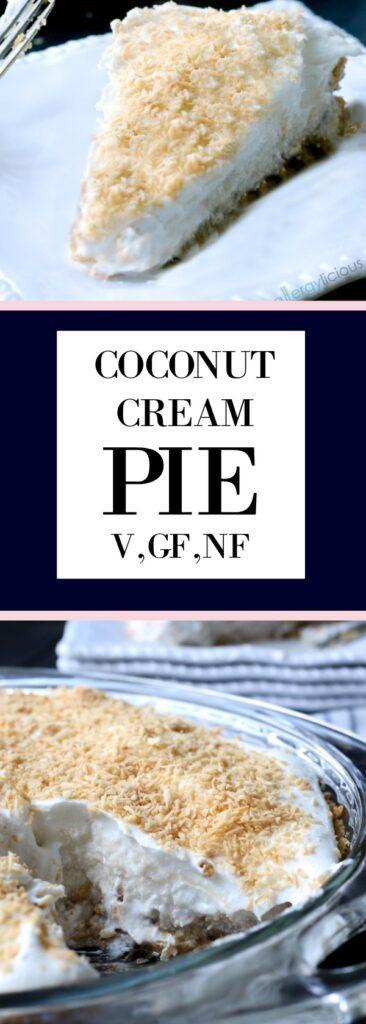 Coconut Cream Pie, sweet & dreamy, vegan & nut-free