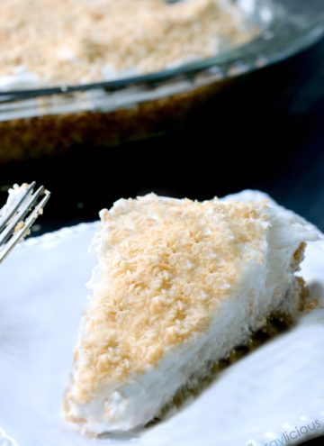 Coconut Cream Pie, sweet & dreamy, vegan & nut-free