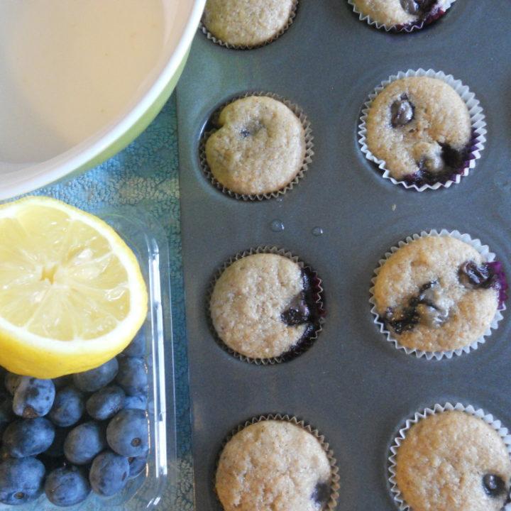 Blueberry Lemon Cupcakes with Lemon Glaze