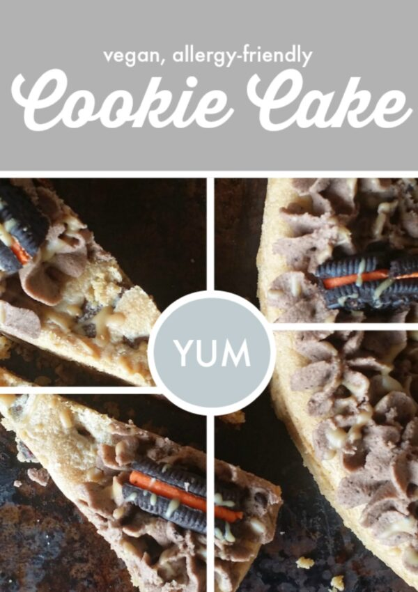 Cookie Cake {vegan, gluten free option}