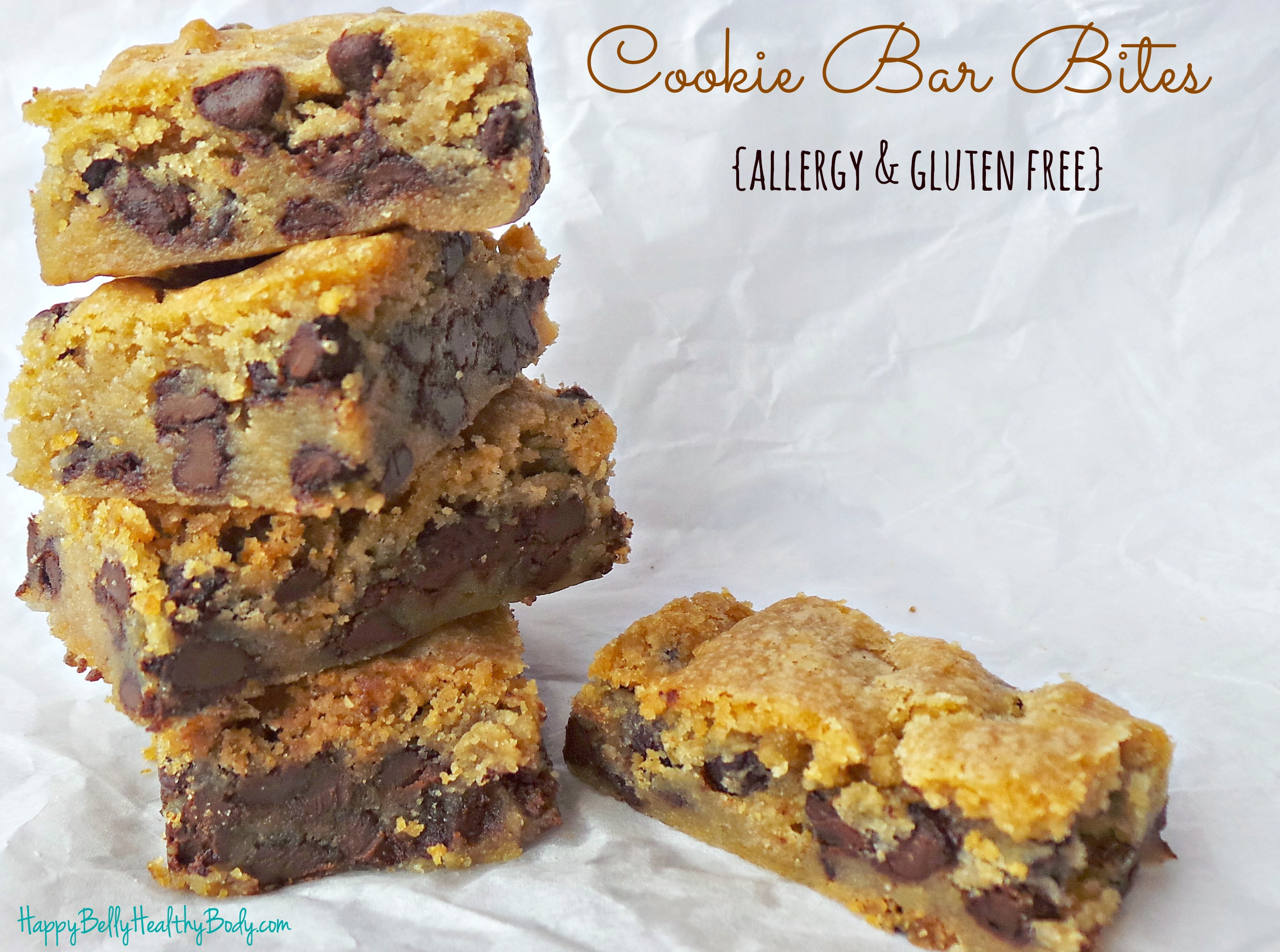 Allergy safe and gluten free, these bars leave you satisfied, never missing their original counterpart.