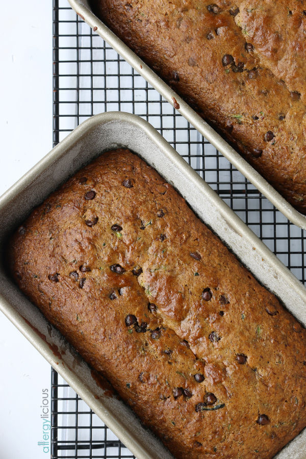 Zucchini Bread with Chocolate Chips (vegan + Gluten-free)