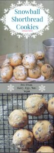 Melt in your mouth, vegan shortbread cookies with a dusting of sugar