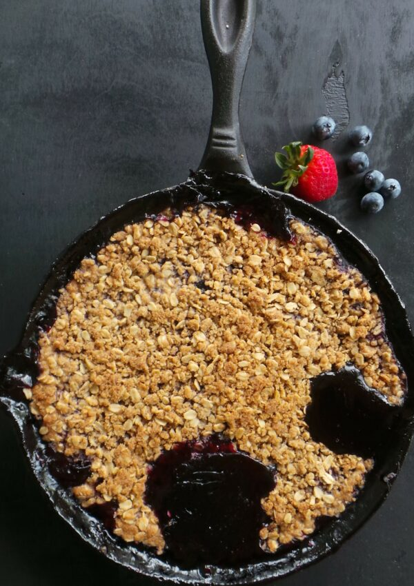 Berry Mint Skillet Pie