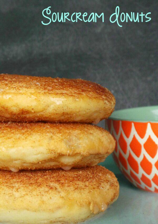 Cinnamon Sugar Sour Cream Donuts