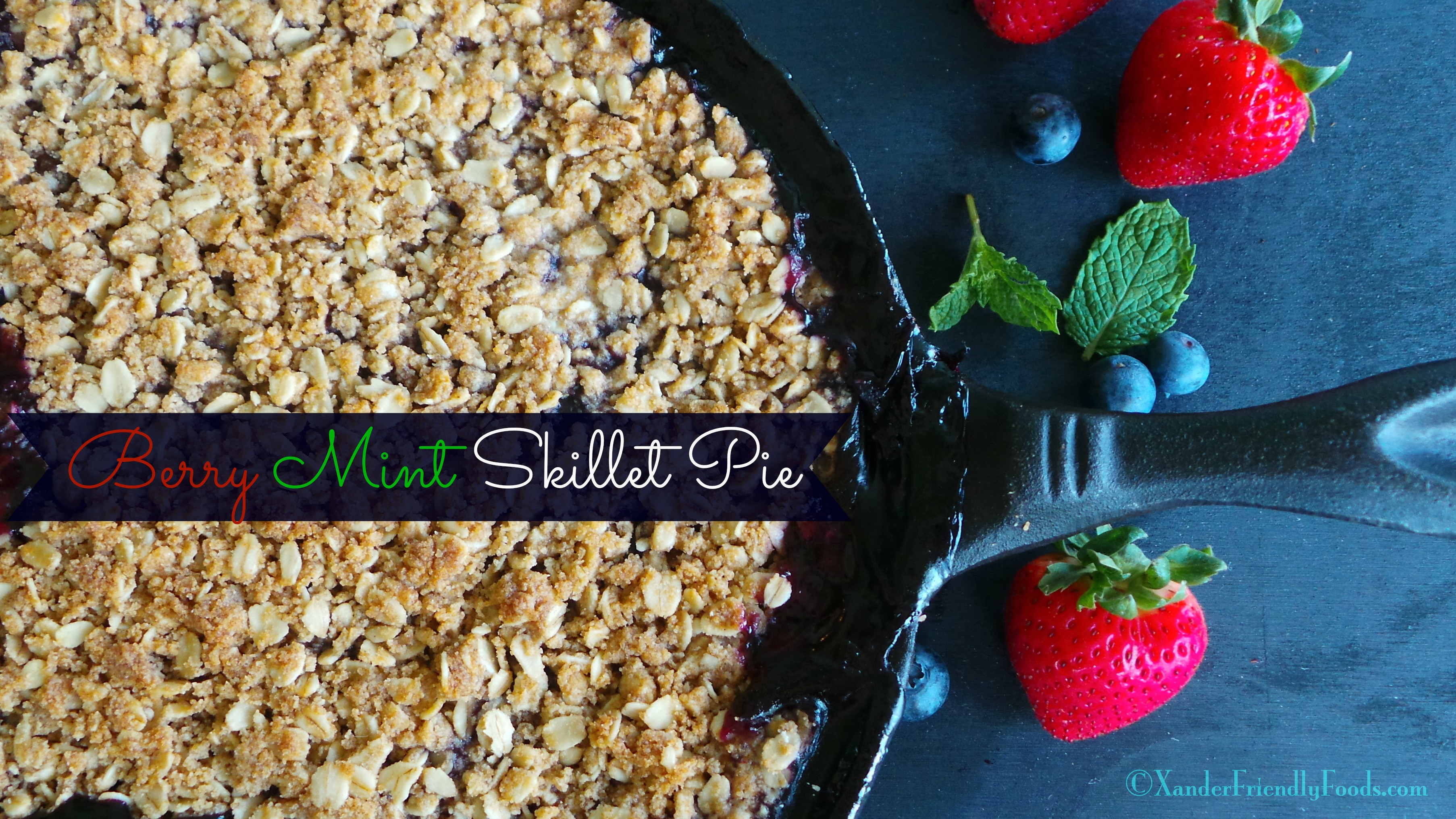 Warm berries and mint are a delightful combination in this Skillet Pie