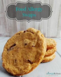 Easy to follow list for swapping out food allergens