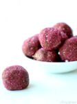 Pink shimmer Chocolate Protein Balls