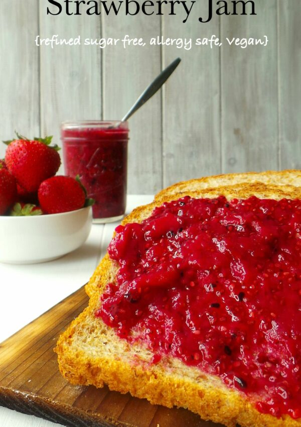 Dragonfruit Strawberry Jam (with Chia Seeds)