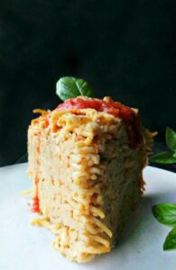 Deep Dish Spaghetti Pie {Vegan and Gluten-free}