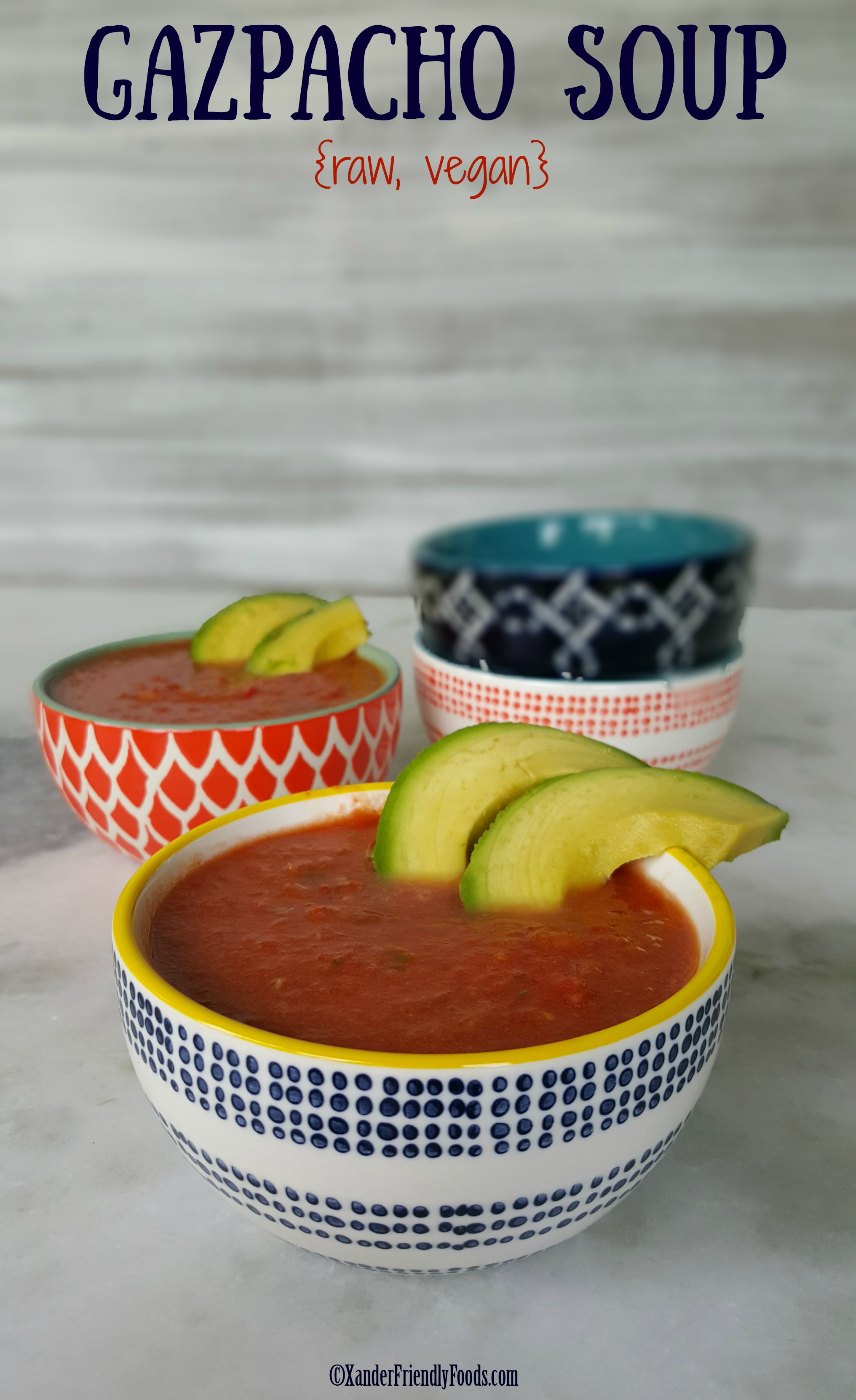 It is a veggie-packed, cold, raw soup that is light and refreshing, and absolutely perfect for the warm summer months.