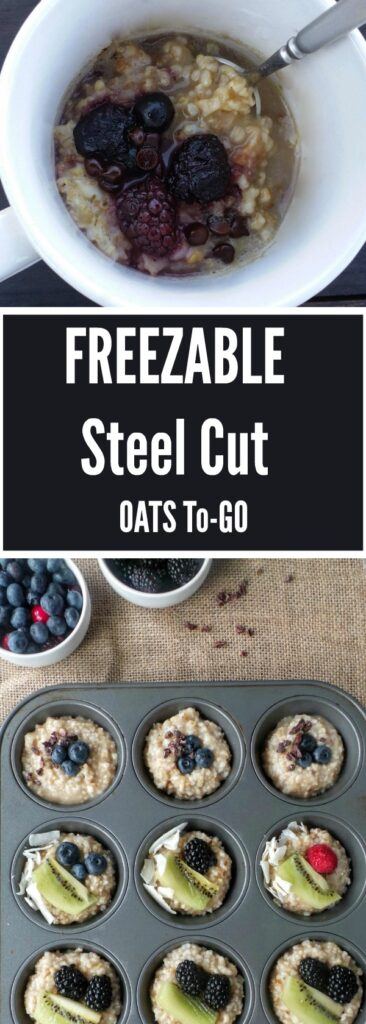 With a little planning ahead, you can make these individual Steel Cut Oats To-Go oats loaded with your favorite toppings to have ready whenever you need it!