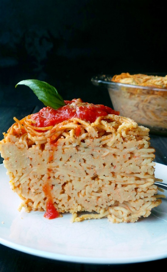 Deep Dish Vegan Spaghetti Pie