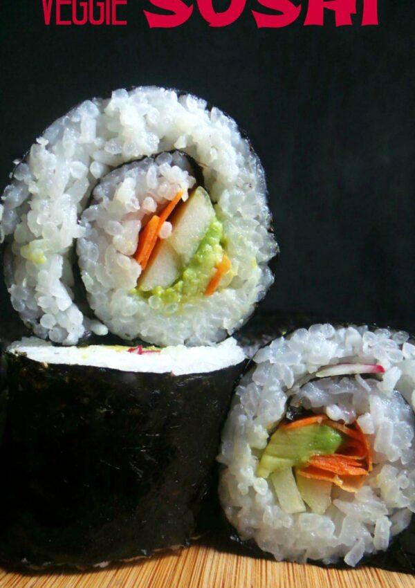 Veggie Lunchbox Sushi {easy to make & allergy-friendly}