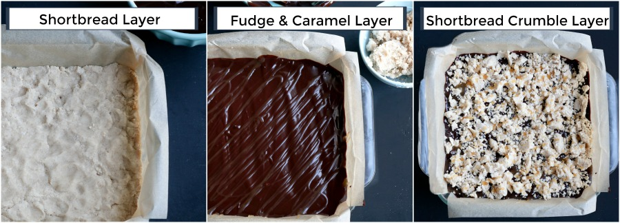 how to make shortbread fudge bars