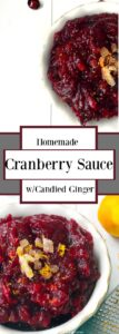Cranberry sauce with candied ginger