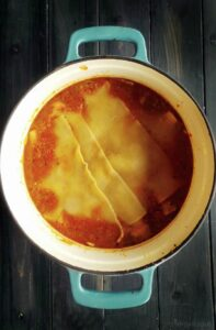 Fresh ingredients & alternative meat protein bring the flavors we all love in this Lasagna Soup.