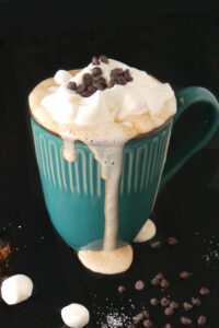melted cup of hot cocoa