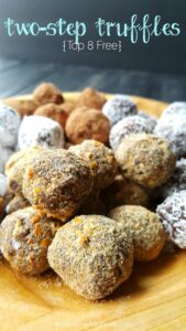 Easy to make, confectioners chocolate truffles. Top 8 free, V,GF