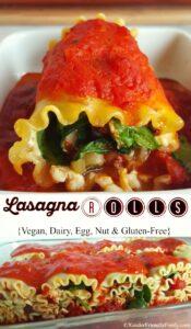 Lasagna Rolls pinterest