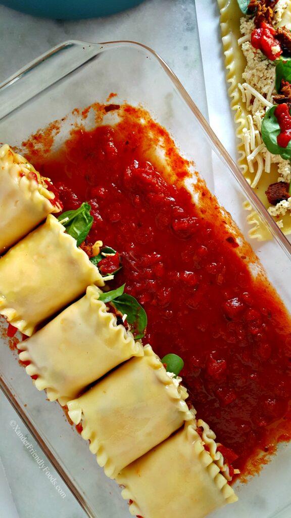 Easy Vegan Lasagna Rolls