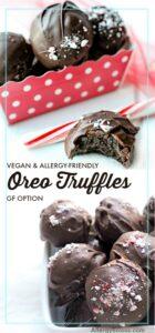 Easy & Delicious, 3 Ingredient, Oreo Truffles. Vegan, Gluten free & Nut free.