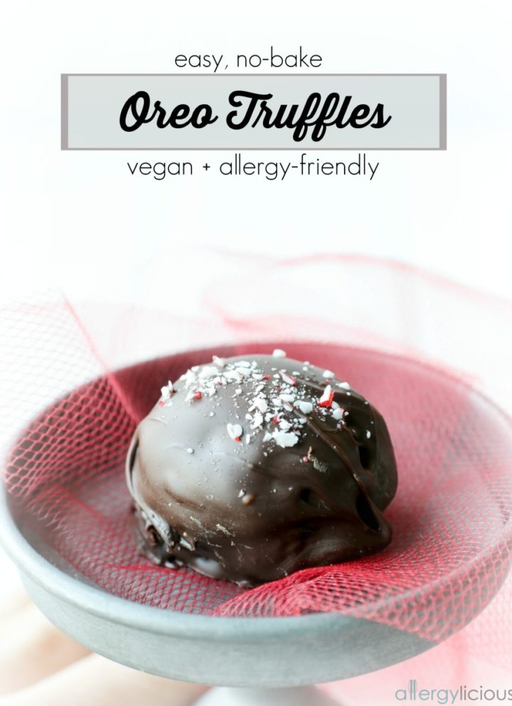 Easy Oreo Truffles {Vegan, NF with GF Option}