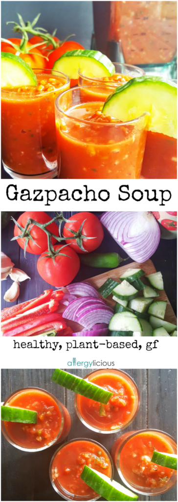 Bring the party to your mouth with easy to make, veggie packed, Gazpacho Shooters.