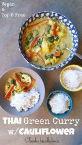 Thai Green Curry with Cauliflower