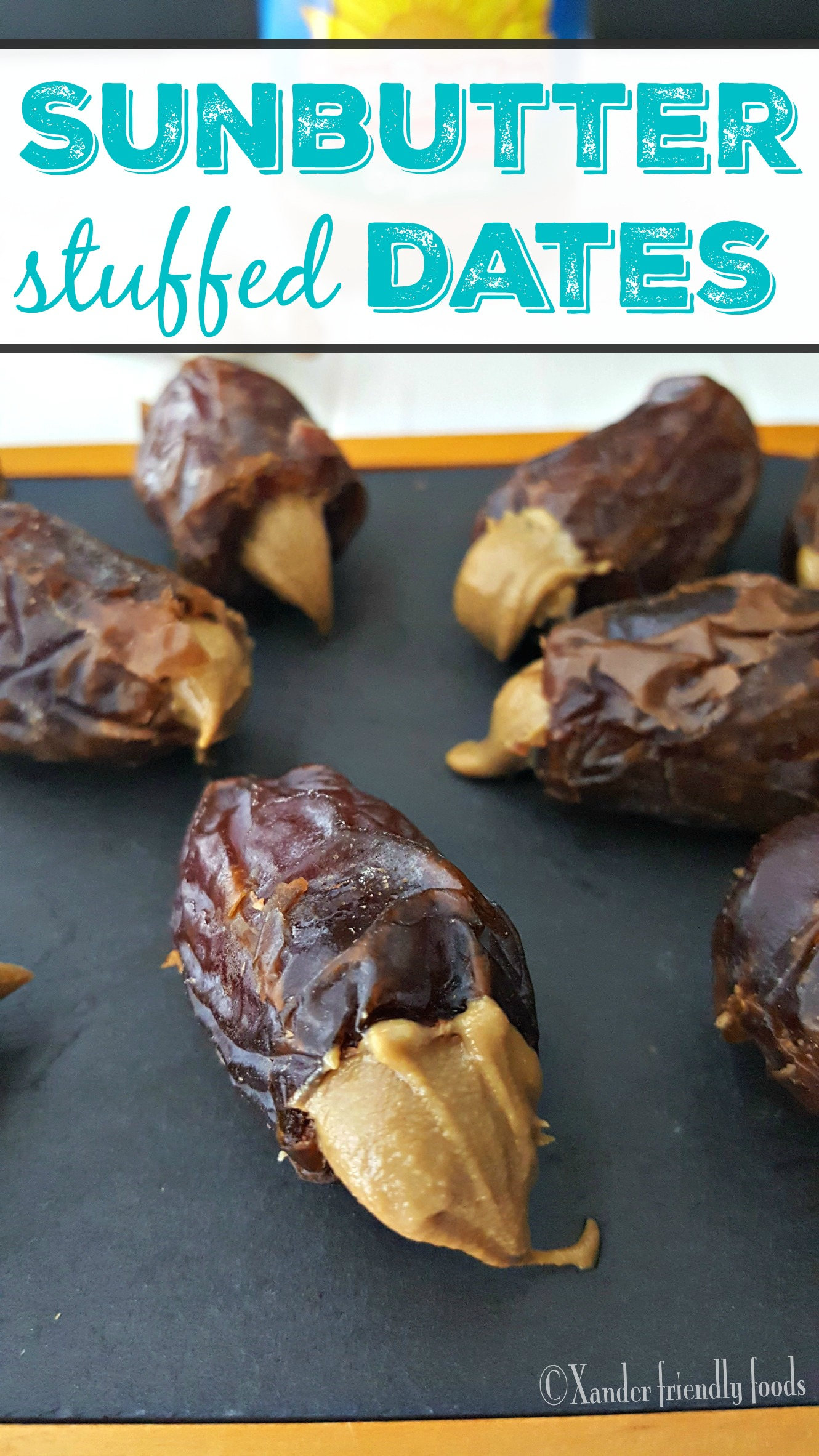 Decadent Dates- stuffed with Organic SunButter and naturally sweet, raw, healthy, Top 8 free and decadently delicious