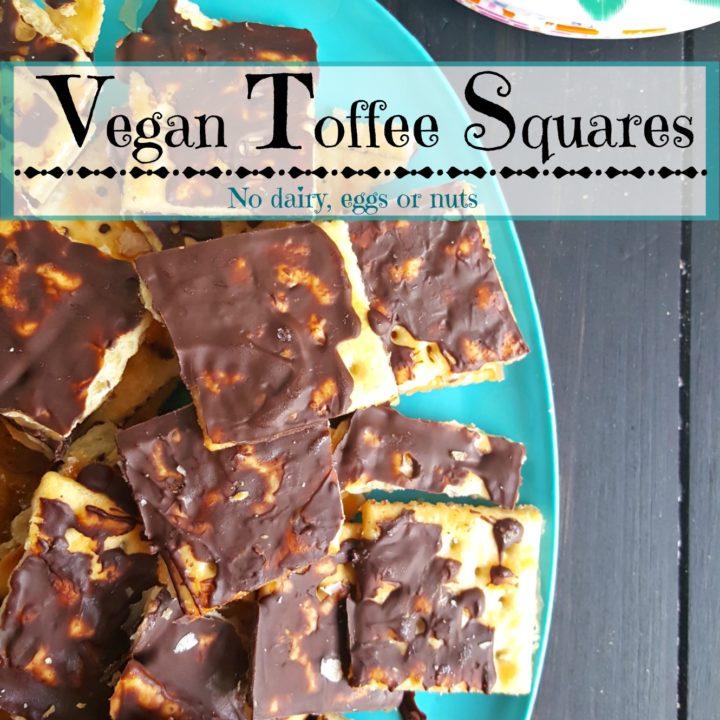 Vegan Toffee Squares