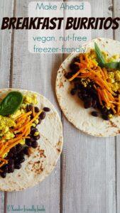 Simple, delicious, Make-Ahead Breakfast Burritos. Dairy, Egg & Nut-free. www.allergylicious.com