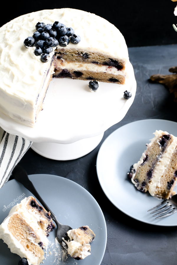 vegan blueberry cake