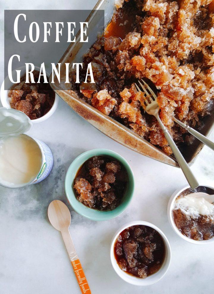 Coffee Granita with Sweetened Condensed Coconut Cream