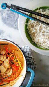Vegan Pad Thai with rice noodles