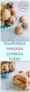 Sunbutter craisin protein bites