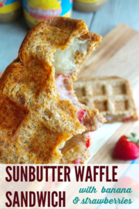 grilled sunbutter waffle sandwich short pin