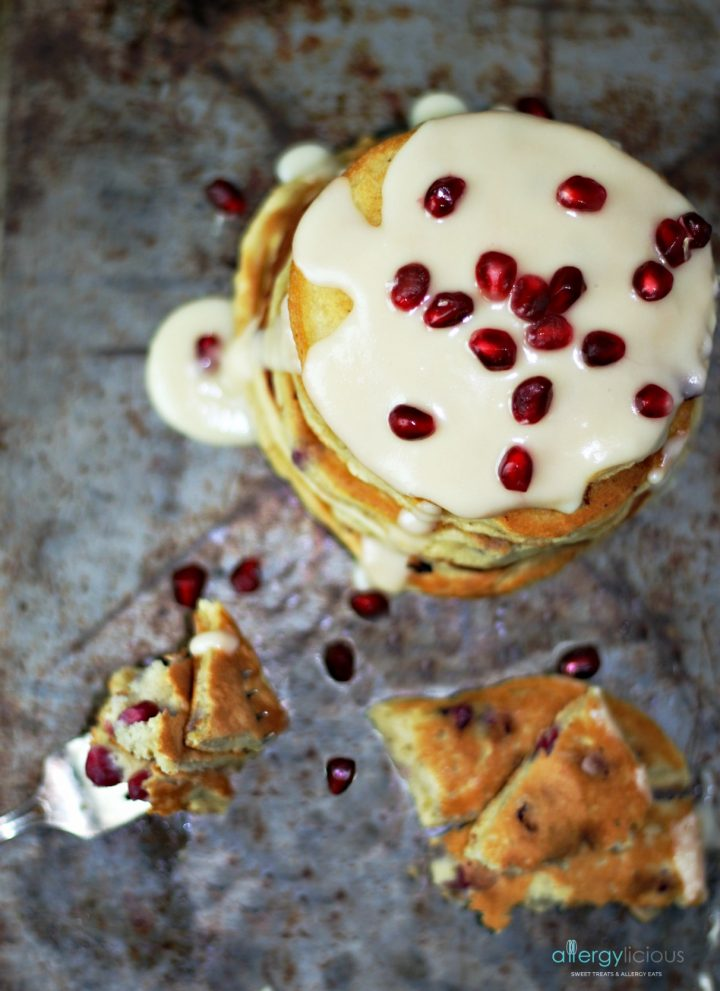 Pomegranate Orange Pancake with Orange Maple Glaze