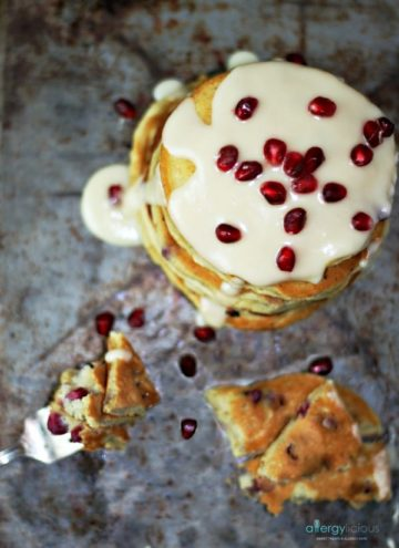 Beautiful & elegant pancakes, bursting with flavors of orange and fresh pomegranate.