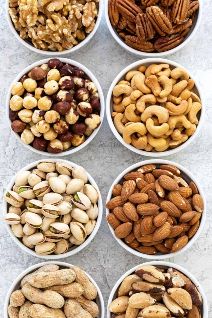different type of nuts
