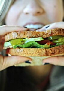 This monster of a sandwich is built for sharing and tiny mouths need not apply. OK, tiny mouths are welcome, but you may need to cut into smaller bites so you candevour this amazingly yummy dish. Get my recipe and find out what all the buzz is about when it comes to Canyon Bakehouse Gluten-free bread!..
