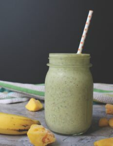 Ginger & Mango team up to provide a healthy smoothie with a little bit of kick! Spicy Mango Tango Smoothie is V & GF.