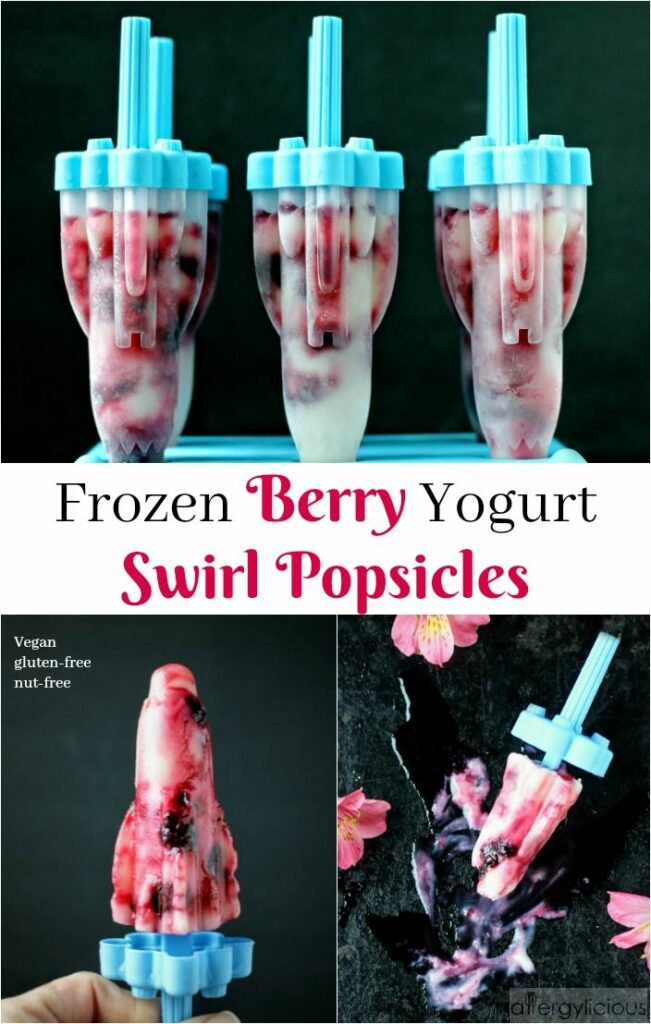 This is no ordinary popsicle! Homemade Frozen Berry & Yogurt Swirl Popsicles are simply a perfect blend of yogurt & fresh berries