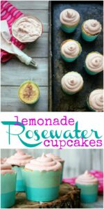 Bring on the taste of Summer with soft & fluffy lemonade cupcakes, infused with rosewater