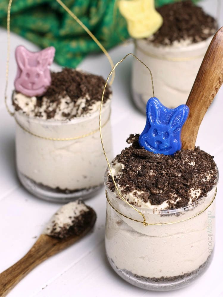 No-Bake, allergy-friendly, SunButter mousse cup. Perfect for the kids this Easter