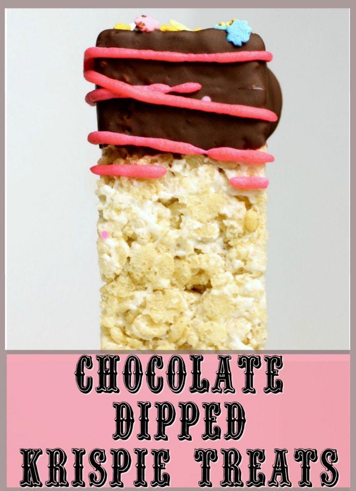Chocolate Dipped Krispie Treats